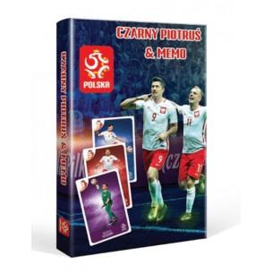 Karty Czarny Piotruś i Memo PZPN