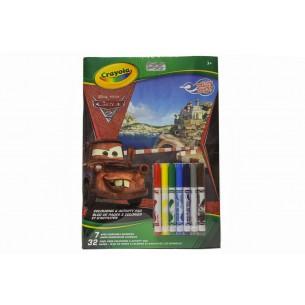 Crayola Cars - Książka z rysowankami + mazaki
