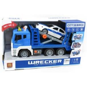Auto laweta+ policja 35cm św/dź box