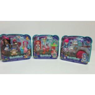 Barbie Enchantimals lalka+ zwierzątka***