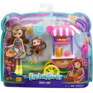 Barbie Enchantimals lalka+ pojazd 2wz (3)***