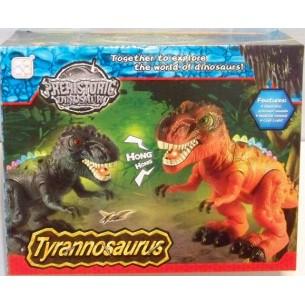 Dinozaur na baterie w pudełku