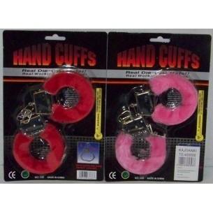 Kajdanki metalowe z futerkiem