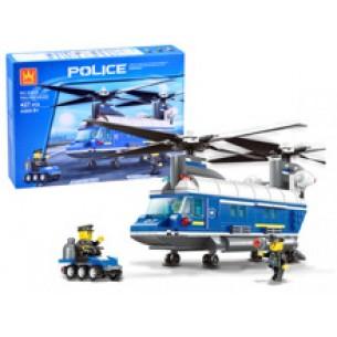 Klocki Policja helikopter 427-elementów